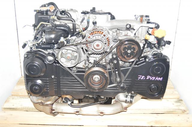 Used Subaru AVCS EJ205 WRX 2002-2005 TD04 Turbocharged DOHC 2.0L Engine Package For Sale