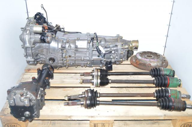 JDM Subaru TY754VBBBA 5-Speed Transmission with 4.11 LSD Rear Diff, Axles & Clutch Assembly