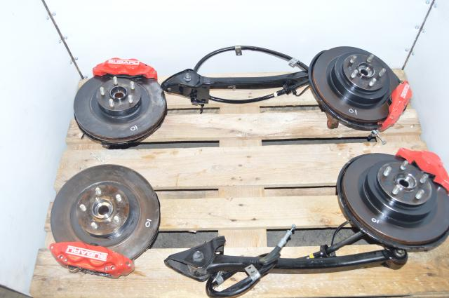 JDM Subaru WRX 2002-2005 Complete 4 Pot 2 Pot Brake Kit For Sale