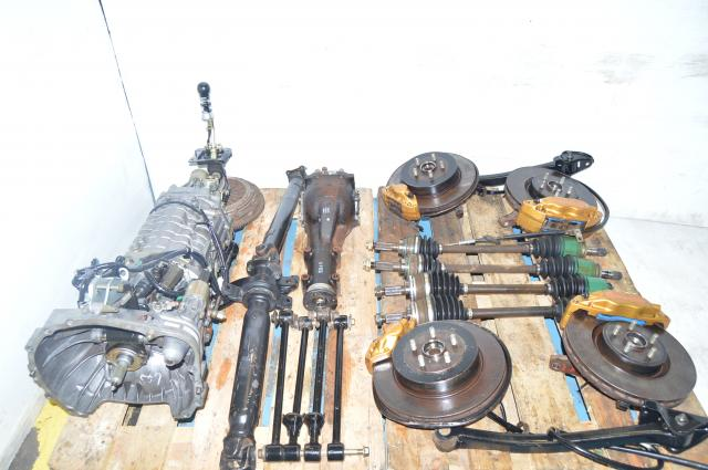 JDM TY856WB3KA Version 8 DCCD 5x100 6-Speed Transmission Package with Axles, R180 Rear Differential & Crossmember For Sale