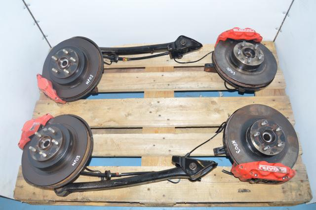 Used 2002-2005 GDA GDB Impreza WRX Rear 2 Pot & Front 4 Pot Brake Assembly