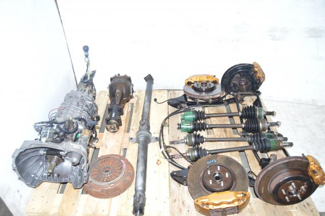 JDM STi 2002-2007 Version 7 TY856WB1CA Front LSD 6-Speed Conversion Transmission Swap For Sale with Accessories