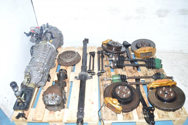 Subaru STi 2002-2007 JDM TY856WB1CA Version 7 6-Speed Transmission, Brembos, Hubs, Rear R180 3.9 Differential & Hub Assembly Kit For Sale