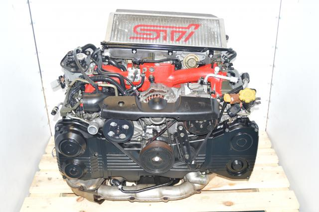 Version 7 JDM EJ207 Single Scroll Forged EJ207 2002-2007 Engine Swap For Sale with Intercooler, Downpipe & ECU