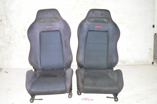 JDM Black Recaro Seats With Red Stitching For Honda Acura Integra DC2 Civic ITR CTR For Sale