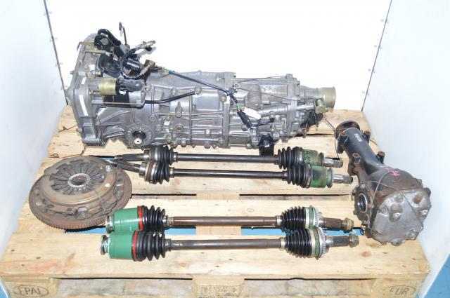 Used Subaru JDM WRX 2002-2005 5 Speed Manual 4.444 Gear Ratio Transmission Swap For Sale GDB GDA