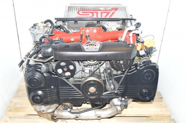 used JDM Subaru Forester STi EJ255 2.5L 04-07 Motor Swap with VF41 Turbocharger For Sale FSTI Drive by Wire WRX 06-07