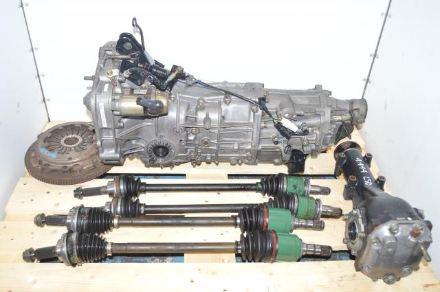 JDM WRX 2002-2005 5 Speed Manual Transmission Swap with Axles, Rear LSD Differential, Flywheel & Pressure Plate