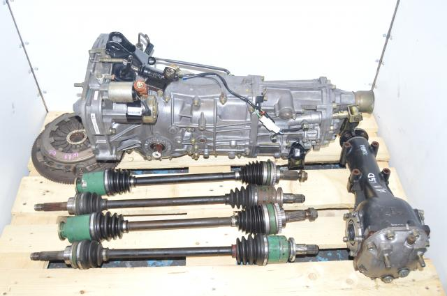 JDM Subaru Impreza WRX 2002-2005 5 Speed Manual GDB GDA Transmission with Axles, 4.11 LSD Rear Diff, Flywheel & Pressure Plate
