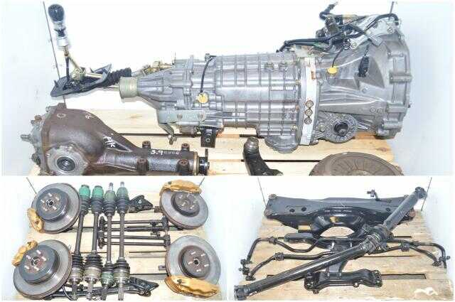 TY856WB3KA Version 8 DCCD 6-Speed JDM Subaru STi 2002-2007 Transmission Package with 4 Corner Axles, 5x100 Hubs, Control Arms & Driveshaft For Sale