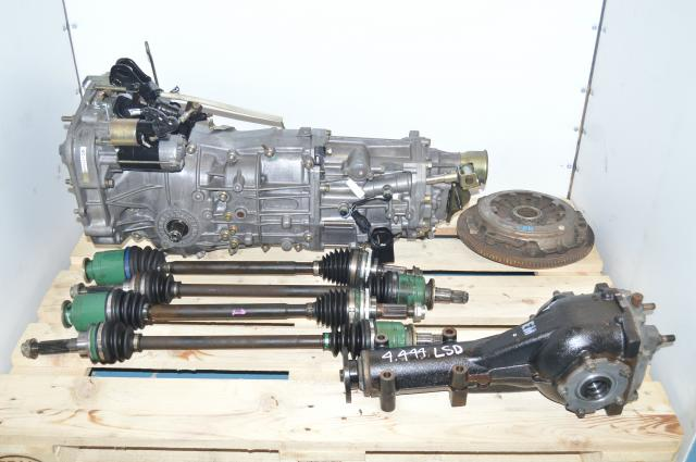 JDM 2002-2005 WRX GDB GDA 5-Speed Manual Transmission, Axles, 4.444 Rear Diff & Flywheel For Sale
