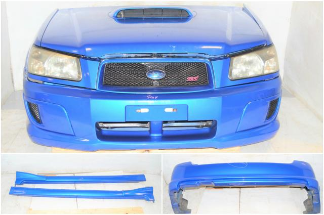 JDM Subaru Forester SG5 STi Front End Conversion with Fenders, Front Bumper, Headlights, Sideskirts & Rear Bumper For Sale