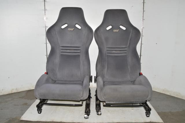 JDM STi Limited S203 Recaro Carbon Fiber Backing Bucket Front Seats For Sale