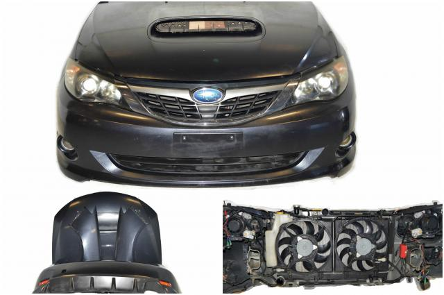 JDM Subaru Impreza WRX 2008-2009 Front End Conversion with Hood, Front and Rear Bumpers , Fenders, Radiator, Rad Support, HID Headlights & Foglights For Sale