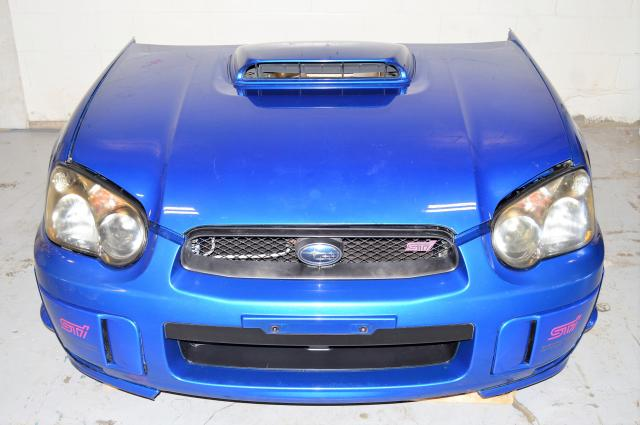 JDM Subaru WRX STi 2004-2005 Version 8 Blob Eye Automotive Front End Conversion Nose Cut For Sale WRB Sedan