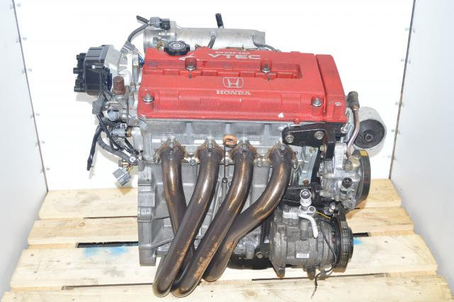 JDM Integra Type-R B18C 1996-1997 Acura ITR Motor For Sale 1.8L with JASMA Headers