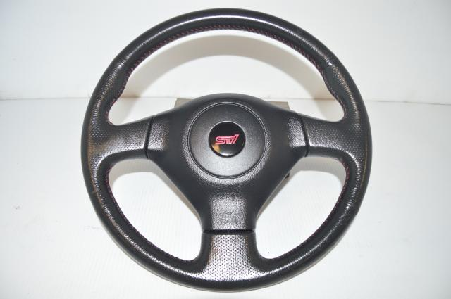 JDM STi Version 9 06-07 Steering Wheel Assembly For Sale