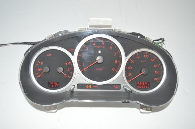 Subaru STi 2004-2007 JDM DCCD Version 8 Manual 180 KM/h Instrument Gauge Cluster Assembly