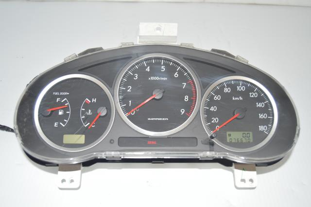 2004-2005 Version 8 Impreza Manual Gauge Cluster Assembly