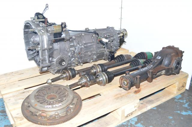 JDM Subaru 2002-2005 WRX 5-Speed Manual Transmission with 4 Corner Axles & Rear 4.444 LSD Differential