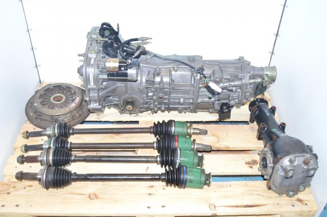 2002-2005 WRX Subaru JDM 5 Speed Manual Transmission Swap with 4 Corner Axles, Flywheel, Pressure Plate and 4.444 Rear Diff