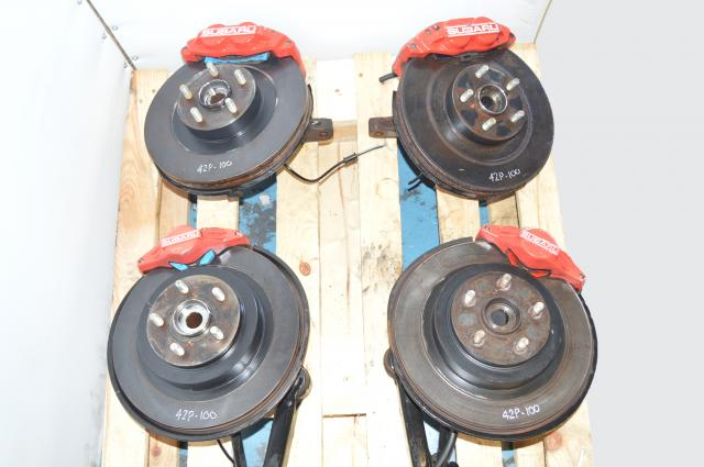 JDM Subaru 5x100 4 Pot & 2 Pot Brake Caliper, Rotors, Hubs & Trailing Arms For Sale
