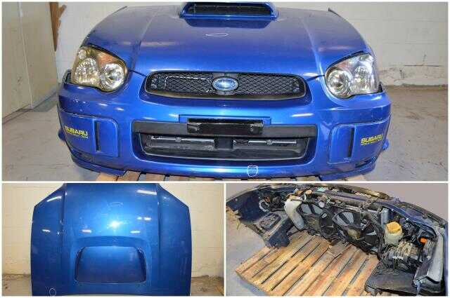 JDM Subaru Blobeye Version 8 2004 2005 Nose Cut Front End Conversion Headlights Fenders Hood Scoop Rad Support Bumper