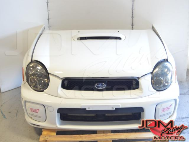 JDM Subaru STi V7 Bugeye Front Cut (rad support, radiator, grill, fog covers, headlights, hood, wrx scoop, fenders)