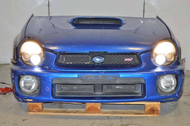 JDM Subaru Impreza WRX STi V7 2002 03 Bugeye Front Cut (rad support, radiator, one piece grill, fog covers, headlights, hood, fenders, fog lights)