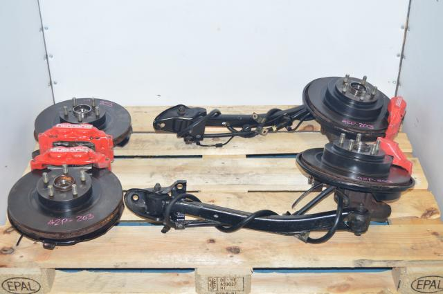 JDM Impreza WRX 2002-2005 Brake Kit 4 Pot / 2 Pot Red Assembly Package 5x100