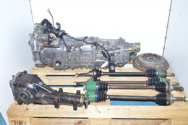 4.444 LSD Rear Differential & 5-Speed Manual Transmission Swap with Axles for WRX 2002-2005
