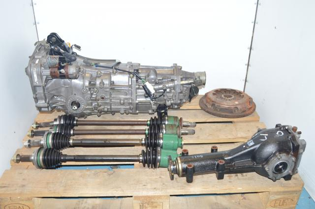 Impreza WRX 2002-2005 JDM 5 Speed 4.11 Transmission with Rear Differential For Sale