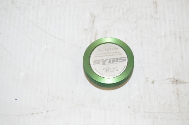 Syms JDM Green Rare Oil Cap for Subaru WRX STi, Legacy GT, Forester XT