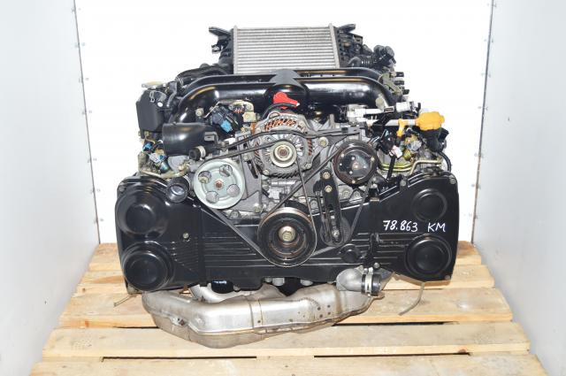 JDM Subaru Legacy 04-05 EJ20Y TD04 Twin Scroll Quad Cam Engine with AVCS & Intercooler For Sale (Also fits 2008-2011 WRX ) EJ20X