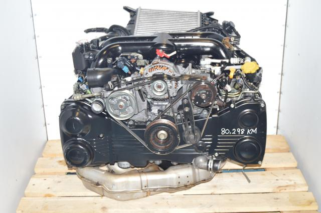 JDM Subaru Legacy 04-05 EJ20X VF38 Twin Scroll Quad Cam Engine with AVCS For Sale