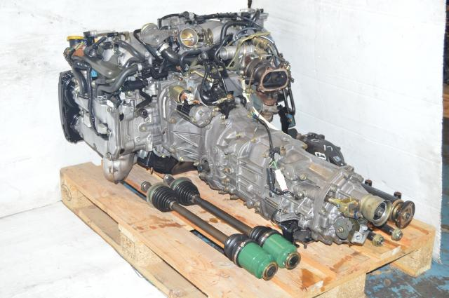 Subaru EJ205 AVCS Compatible TD04 Turbocharged DOHC 2.0L Engine & 5-Speed Manual Transmission with 4.444 Rear LSD Differential For Sale