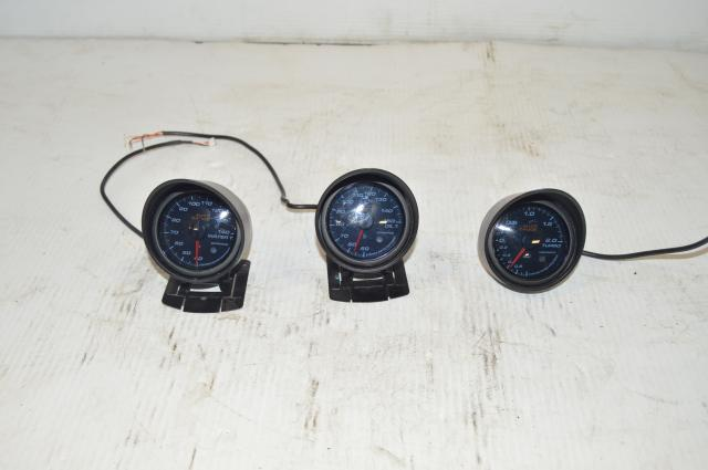 JDM 60mm Auto Gauge Triple Gauge set (oil temp, boost, water temp)