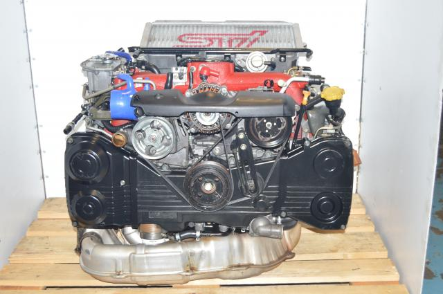 JDM Version 8 Turbocharged Twin Scroll EJ207 STi Subaru 2002-2007 Engine 2.0L Swap with Version 9 Intercooler, Downpipe & ECU