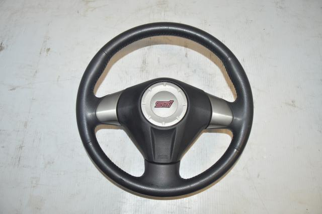 JDM Used Subaru WRX STi GR Silver Steering wheel for 2008-2014 STi