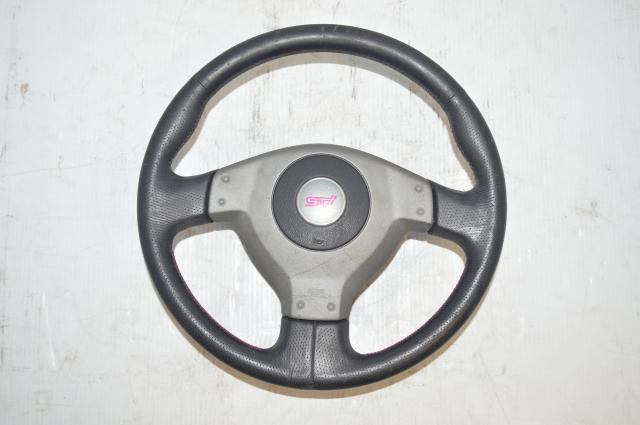 Subaru Version 7 JDM Silver Steering Wheel for 2002-2004