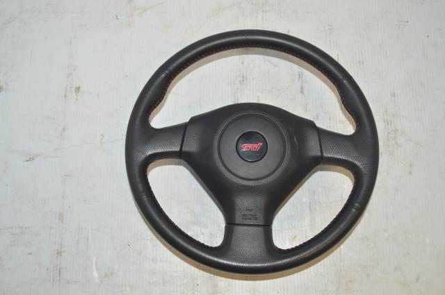 Subaru JDM Version 8/9 Black STi Steering Wheel for 2005-2007