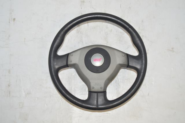 Subaru JDM Version 7/8 Silver STi Steering Wheel for 2002-2004