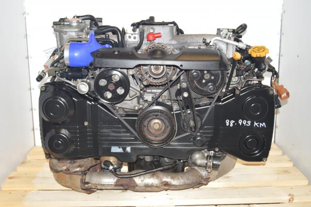 Subaru WRX 2.0L DOHC VF30 Turbocharged EJ205 2002-2005 Engine Swap for Sale with Pink Injectors