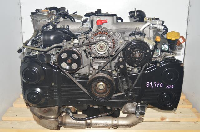 JDM Subaru EJ205 Engine AVCS TGV Delete 2.0L Motor with TF035 Turbocharger