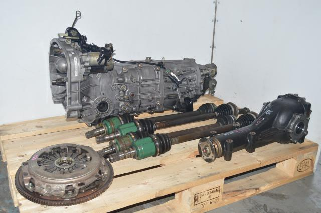 JDM Subaru 5 Speed Manual 2002-2005 WRX Transmission Swap for Sale with Rear LSD Differential 4.444