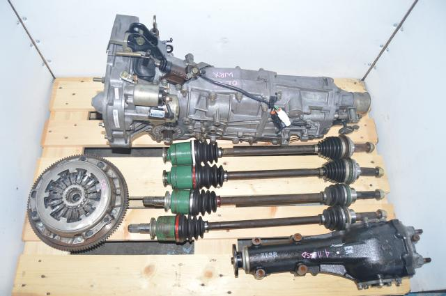 4.11 LSD Rear Differential & JDM 5 Speed Manual Transmission Swap with Flywheel for Subaru WRX 2002-2005