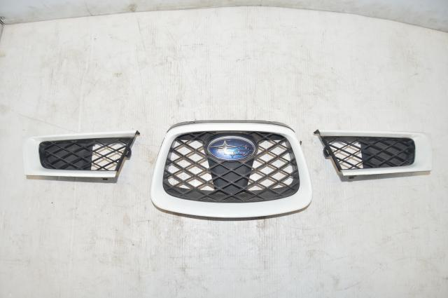 JDM Subaru Impreza WRX STI 3 Piece Grill in White for 2006-2007 Models
