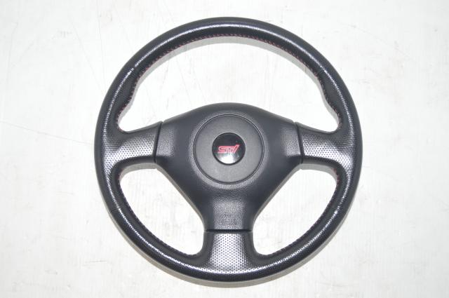 2005-2008 Subaru Forester SG9 STI V9 Black Steering Wheel