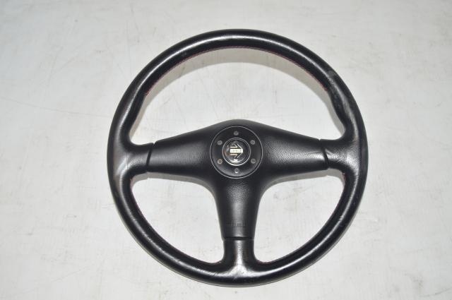 JDM Subaru STI S202 Red and Black Momo Steering Wheel