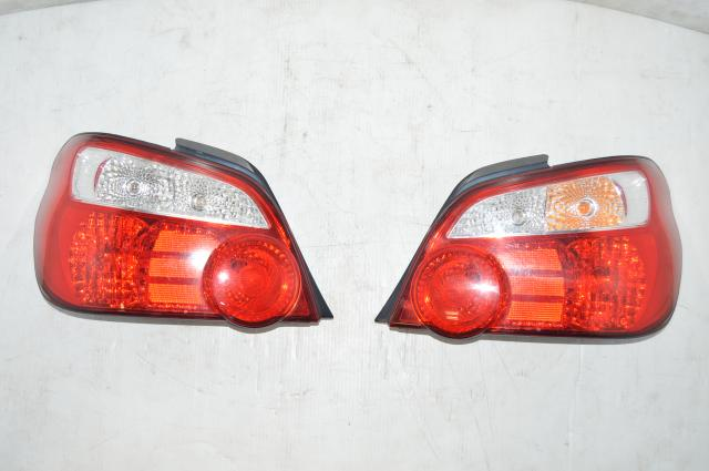 Subaru JDM V8 WRX STI Tail Lights in Red for 2002-2007 Sedan